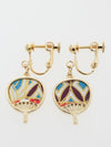 UCHIWA Round Fan Clip Earrings-Ametsuchi