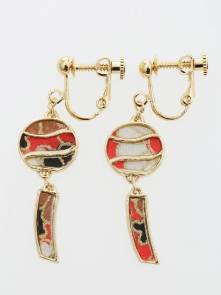 FURIN Wind Chime Clip Earrings-Ametsuchi