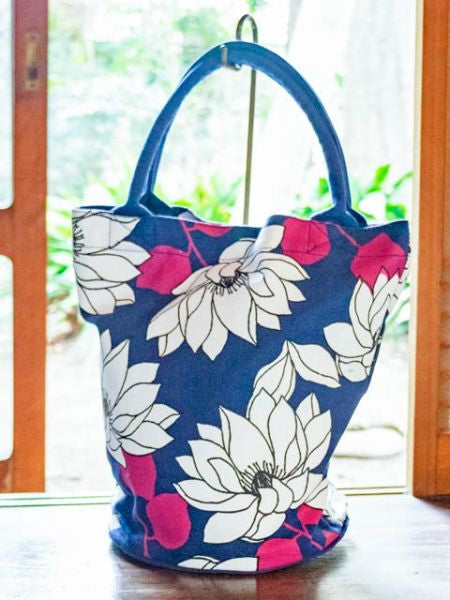 Lotus Bucket Tote Bag