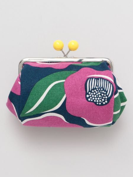 Large Colorful Camelia GAMAGUCHI Purse