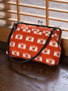 Retro Pattern HANPU GAMAGUCHI Top Handle Purse-Ametsuchi