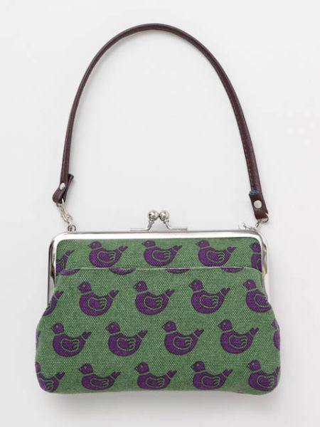 Retro Pattern HANPU GAMAGUCHI Top Handle Purse