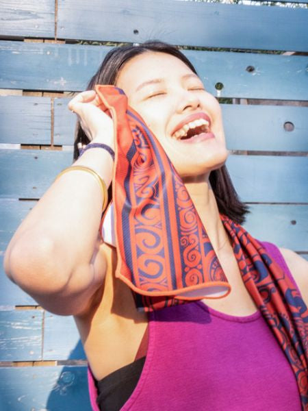 Tribal Pattern Cooling Towel