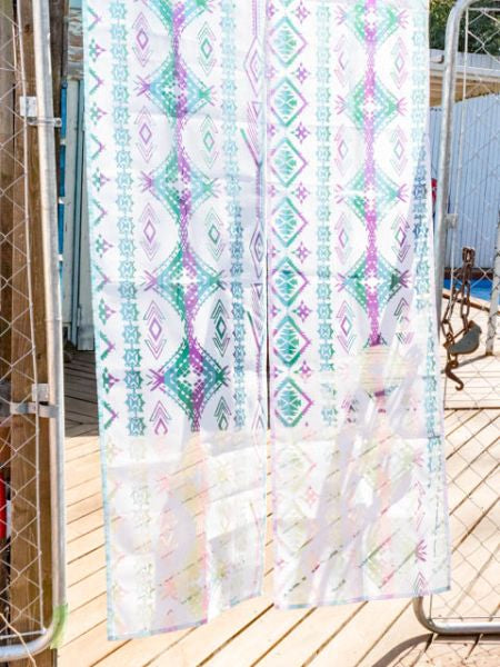 NAVAJO Sheer NOREN Door Curtain