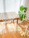 Retro Tile Pattern Sheer Table Cloth-Ametsuchi