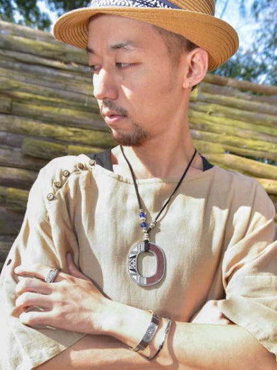 TUAREG Inspired Statement Necklace -Necklaces-Ametsuchi