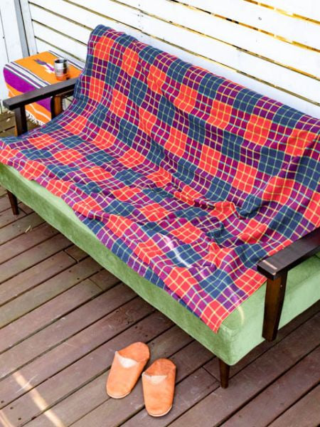MAASAI SHUKA Plaid Style Bed Cover Multi Cloth-Ametsuchi