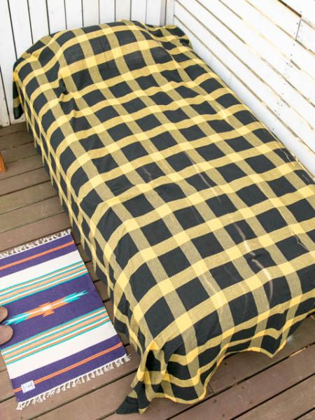 Plaid Pattern Bed Cover Multi Cloth
