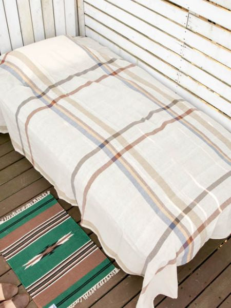 MADLAS Plaid Bettdecke Multi Cloth-Ametsuchi