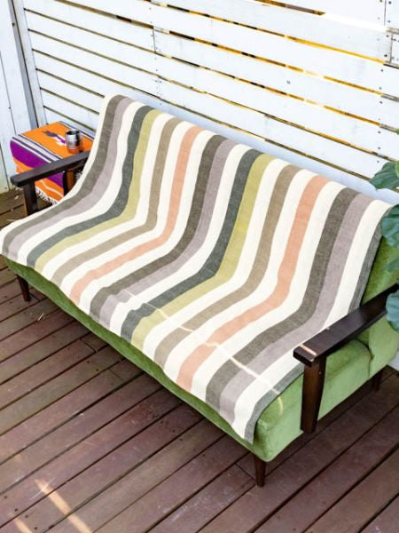 Stripe Pattern Multi Cloth Bed Cover