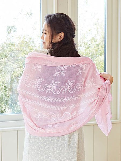 Floral Embroidery Stole-Ametsuchi