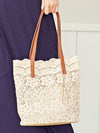 LE PUY Lace Inspired Tote Bag-Ametsuchi