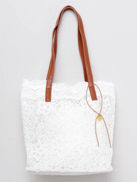 LE PUY Lace Inspired Tote Bag