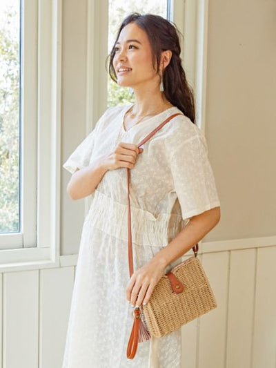 Basket Shoulder Bag-Ametsuchi