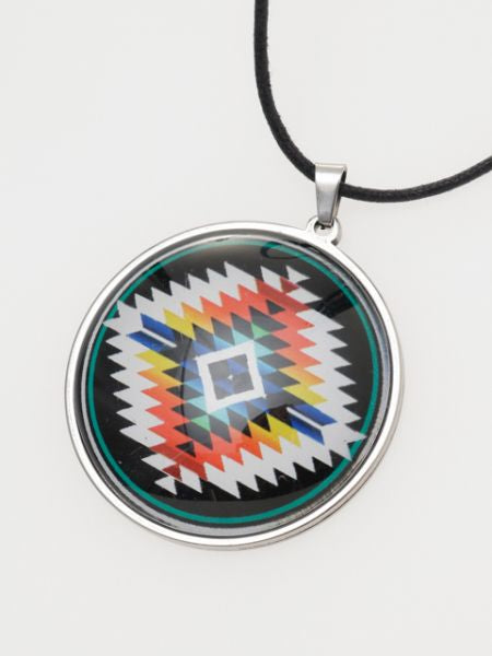 Navajo Glass Charm Necklace-Ametsuchi