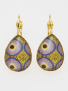 African Fabric Pattern Glass Earrings-Ametsuchi