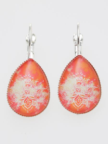 Gradient Lotus Drop Earrings