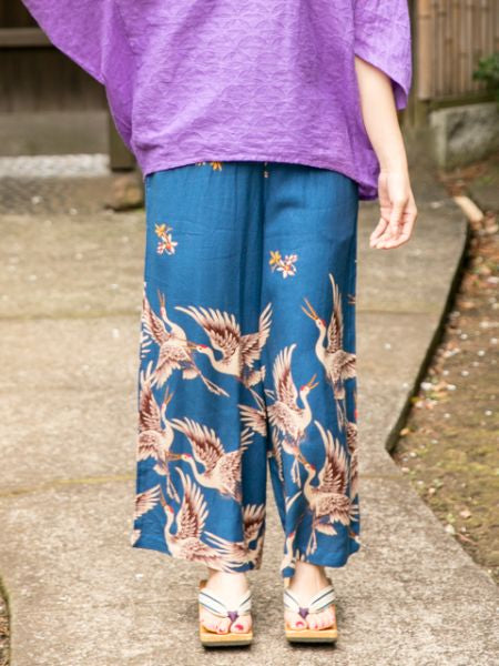 Flying Crane Wide Leg Pants