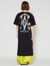 Native American Motif Print Midi Dress -Dresses-Ametsuchi