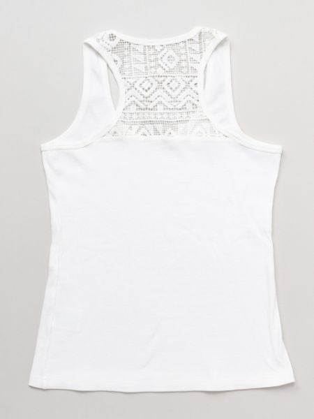 Lace-Back Tank Top