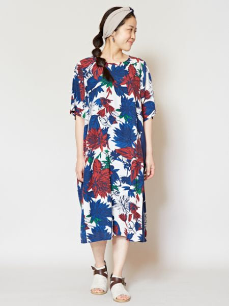 Vintage Pattern Resort Dress