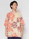 Floral Men's Collarless Shirt-Ametsuchi