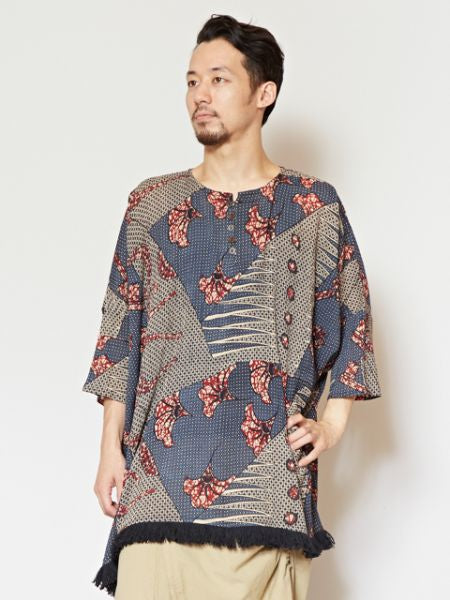 African Pattern Oversized Top
