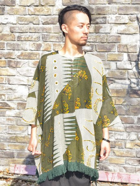 African Pattern Oversized Top-Ametsuchi