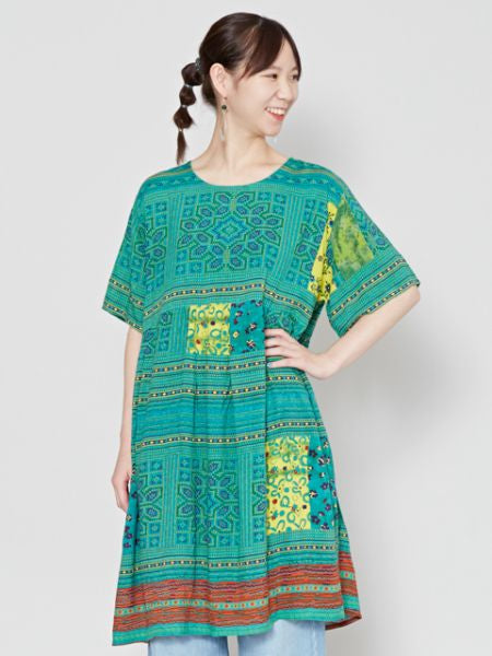 HMONG Inspired Pattern Tunic