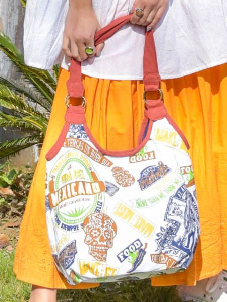 Mexican Pattern Bag-Bags & Purses-Ametsuchi