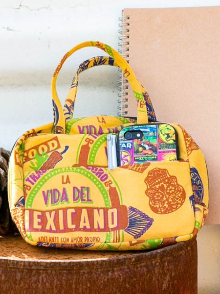 Mexican Pattern Hand Pouch-Bags & Purses-Ametsuchi