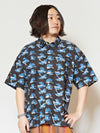 Men's Block Print Shirt-Ametsuchi