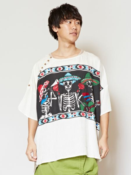 CALAVERA Pattern Oversized Top-Ametsuchi