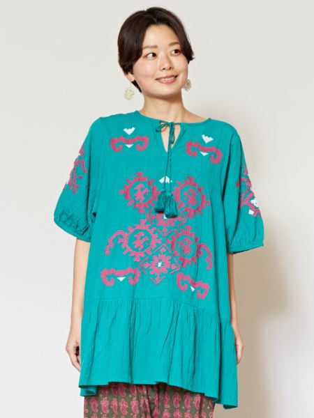 Bulgarian Style Embroidery Top-Ametsuchi