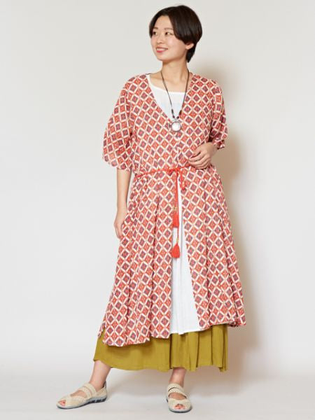 Ethnisches Muster Airy Long KIMONO