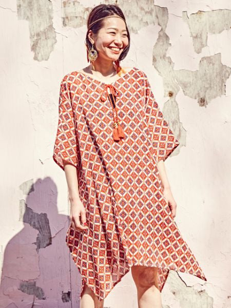 Ethnic Pattern Airy Tunic