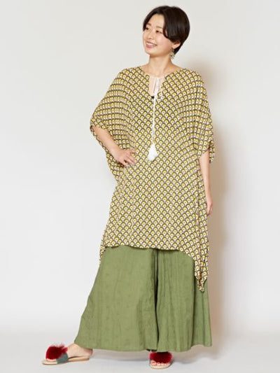 Ethnic Pattern Airy Tunic-Ametsuchi