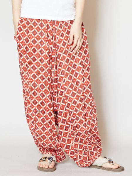 Ethnic Pattern Harem Pants