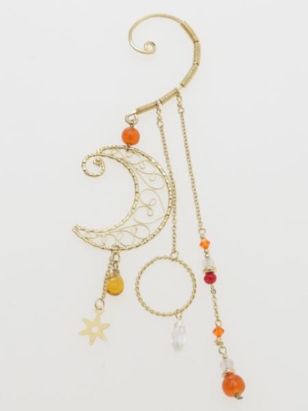 Filigree Moon Ear Hook-Ametsuchi