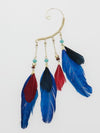 Bohemian Feather Ear Hook-Ametsuchi
