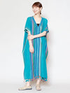 Indian Cotton Kaftan Dress-Ametsuchi