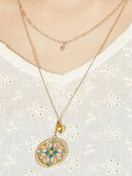 GEOM Charm Twin Necklace-Ametsuchi
