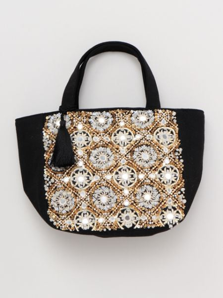 Bead Embroidery Tote Bag