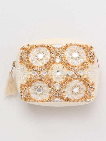 Bead Embroidery Pouch-Ametsuchi
