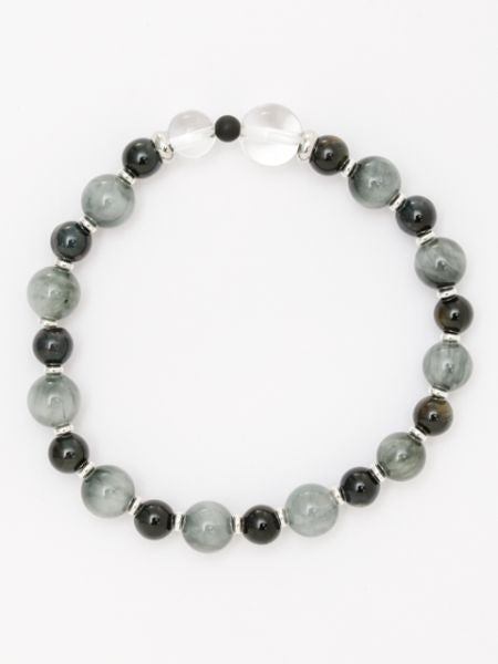 KOKORODO-8mm White Tiger Eye Bracelet-Ametsuchi
