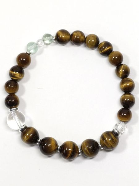 SUIJIN-10mm Tiger Eye Armband