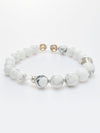 SHOUSHA-10mm White HOWLITE Bracelet-Ametsuchi