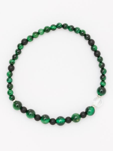 SHIKOU-6mm Green Tiger Eye Armband-Ametsuchi