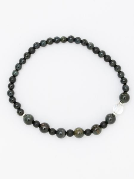 SHIKOU-6mm Blue Tiger Eye Bracelet