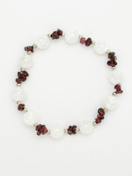 JAN Birthstone Granat x Cracked Crystal Armband-Ametsuchi